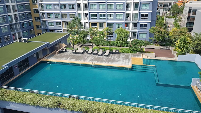 Pool view on Top floor,Asiatique/IconSiam Nearby