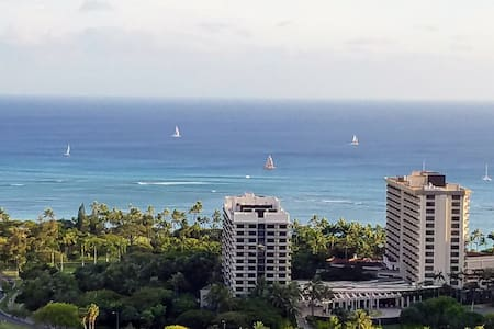 38th floor Waikiki condo for 2 - amazing views