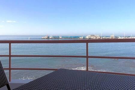 Paseo Marítimo Los Cristianos. Over the sea.