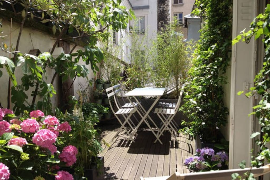 lovely sunny terrace where you can take your breakfast or have dinner.