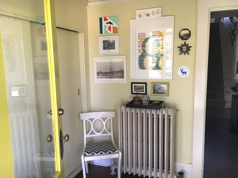 Light-filled entryway and closet
