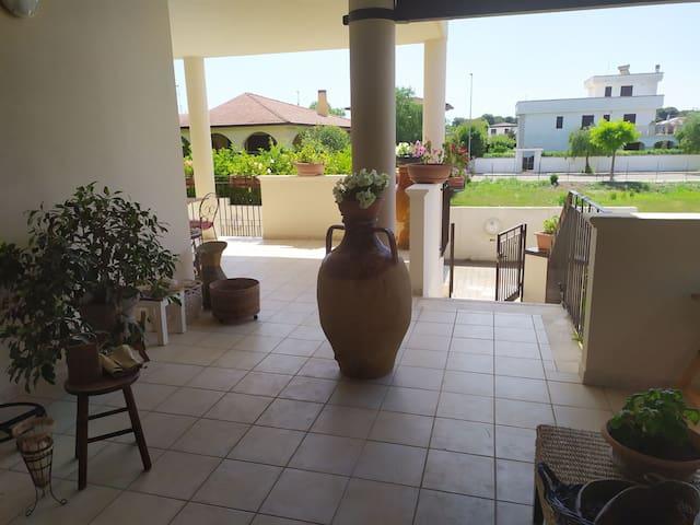 Villa with terrace in a quite area near the beach
