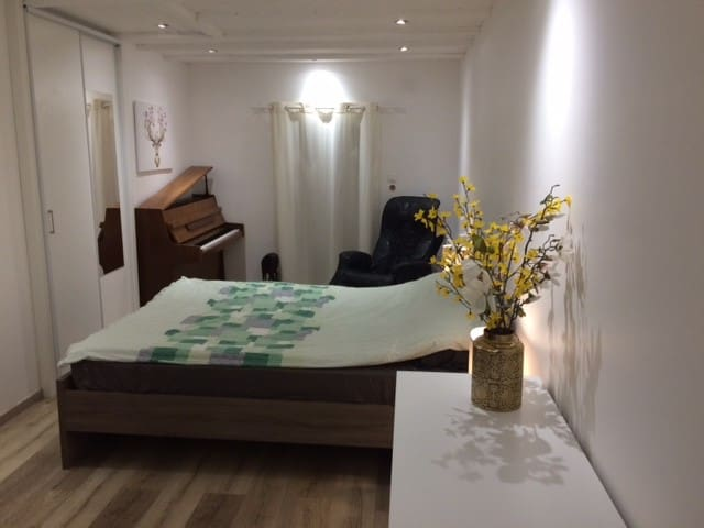 Chambre numéro 1 avec un  lit de 160