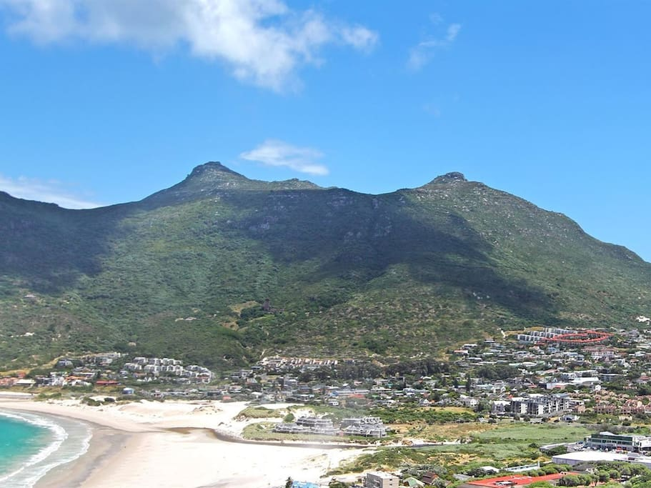 View of Houtbay and the beach.