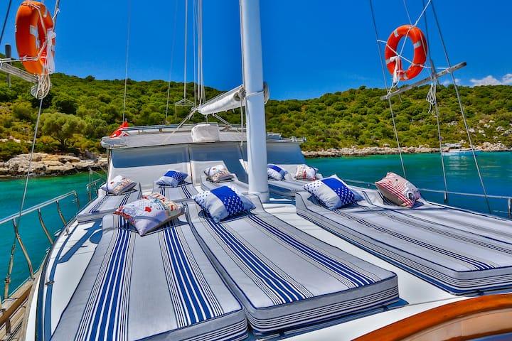Exclusive Crewed Yacht Charters in Kalkan