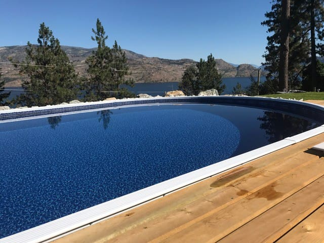 Peachland Home with Stunning Views & Pool