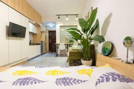 『IVY Home』江景公寓,日式现代设计感出门洋湖湿地公园 - 长沙 - Leilighet