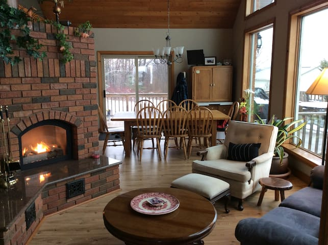 enjoy the view with the propane fireplace