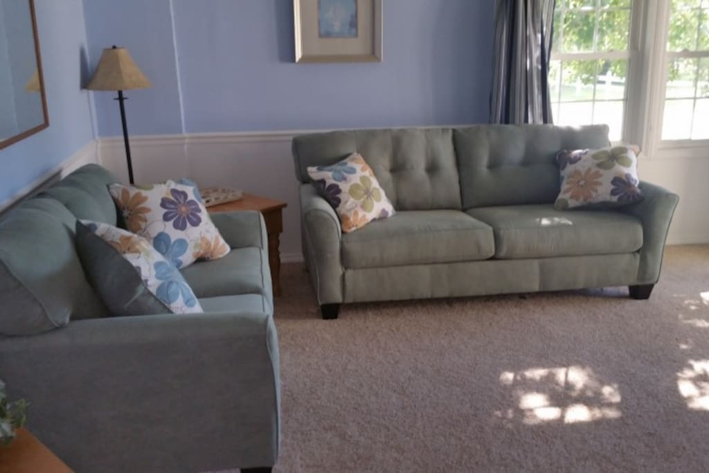 Good sized living room connected to front porch.