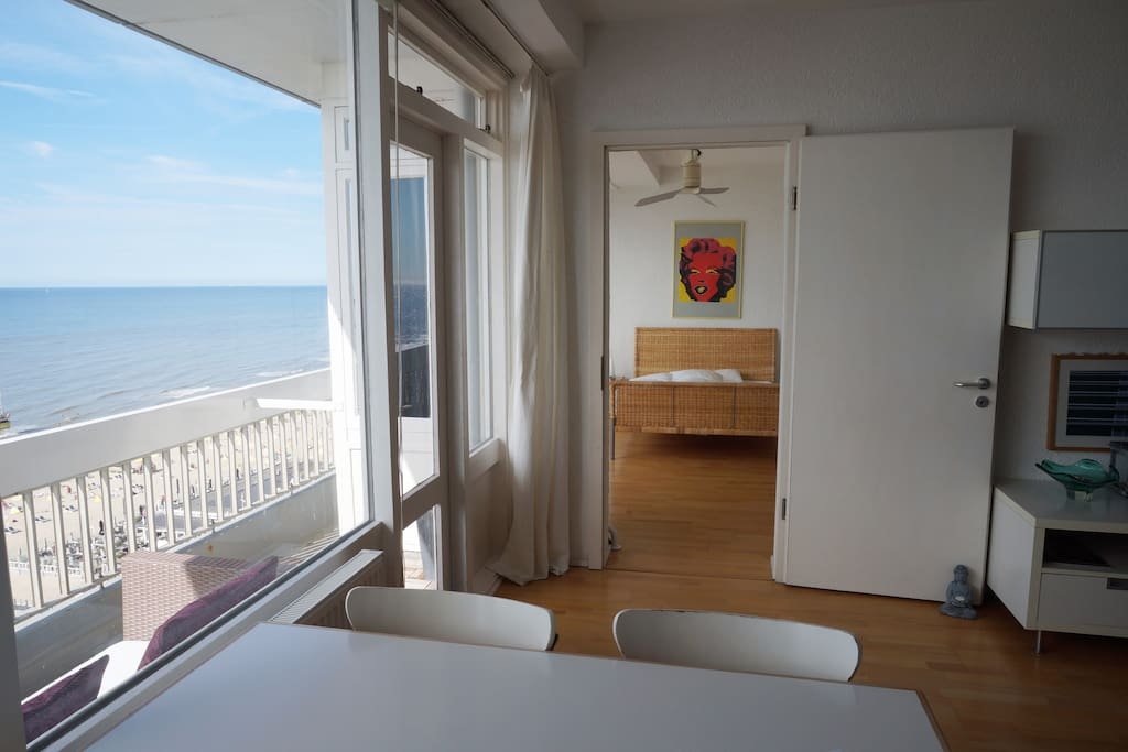 living room with North Sea view