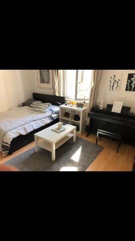 Helles Zimmer Altbauwohnung in der Innenstadt