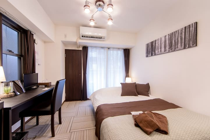 1room/2ppl★4 min to sta!Near Osaka Castle.#403