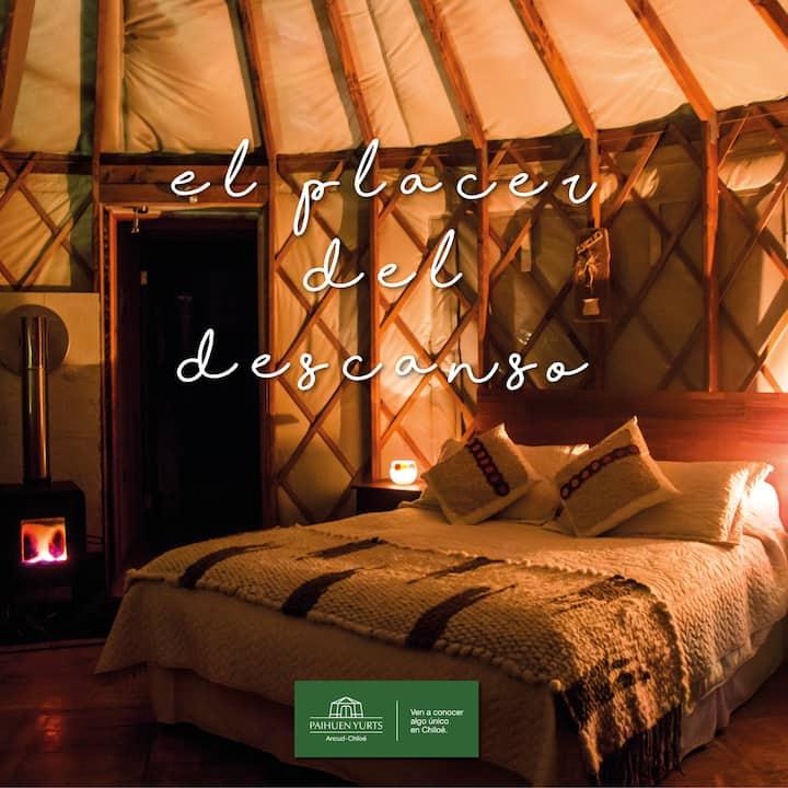 Primera yurta en Chiloé, ven a disfrutar.