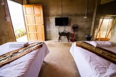 Standard Fan room no View in Chiang rai Maesalong.