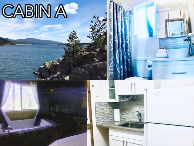 Cabin A - 2 bedrooms + Private Hot Tub & Patio