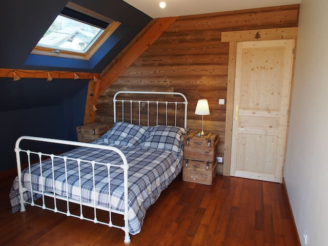 chambre privative, ambiance chalet