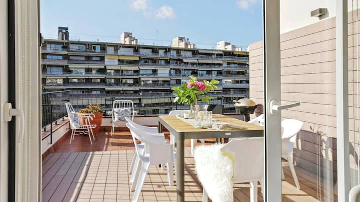 Sunny terrace penthouse by Camp Nou Free Nespresso
