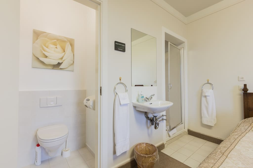 Private room with two comfortable single beds and private bathroom