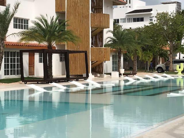 Apartamentos MANAYA by Tanama A312 vista piscina