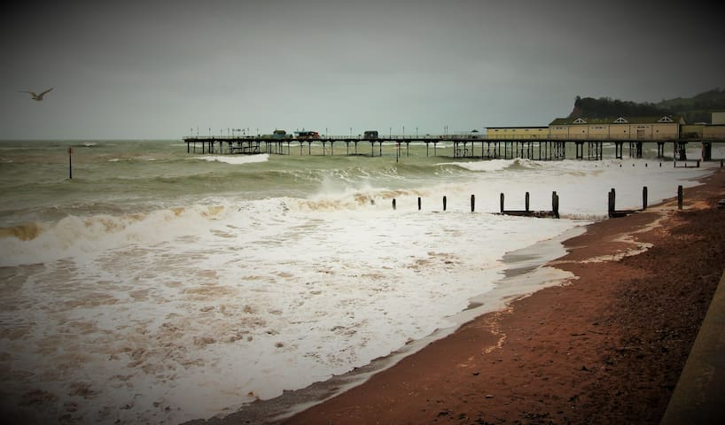 Blustery day at Teignmouth
