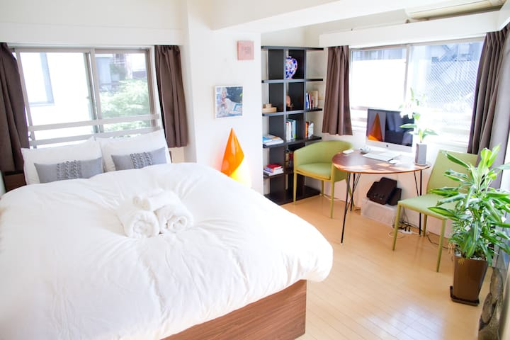 Central, stylish, light & new! - Meguro-ku - Appartement