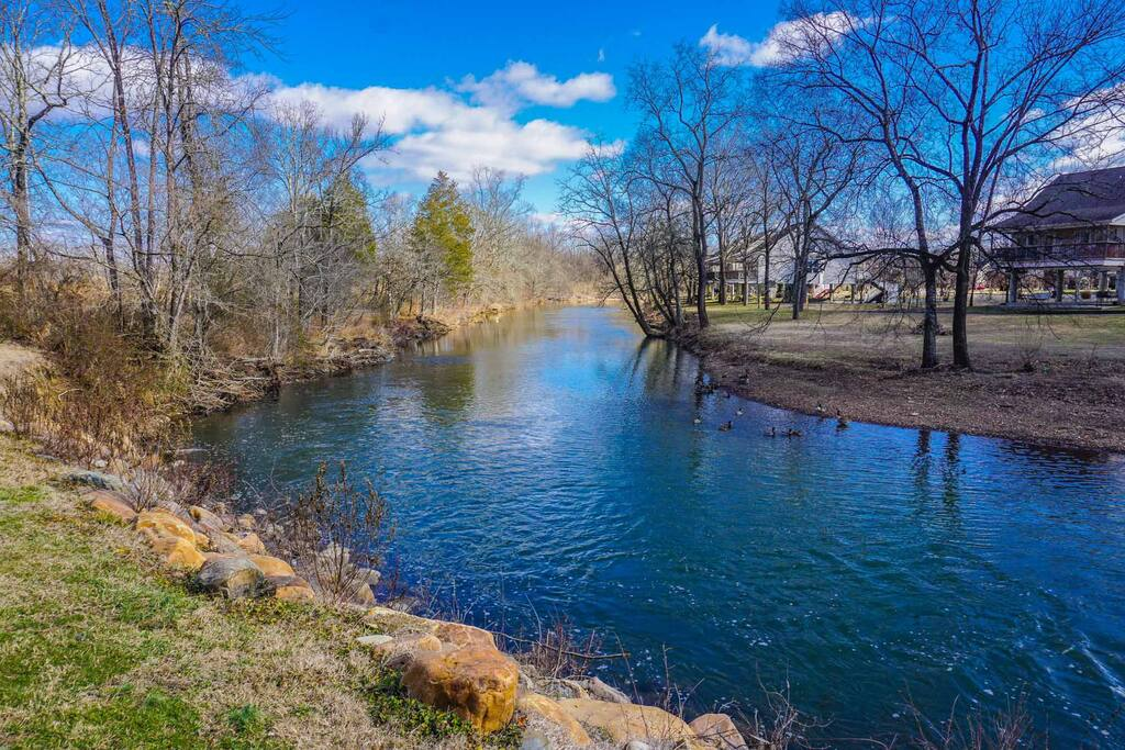 A 1 minute walk gets you to the beautiful West Prong of the Little Pigeon River.  Grab a chair and relax by the river's edge. We are not on the river side, we are across the parking area.