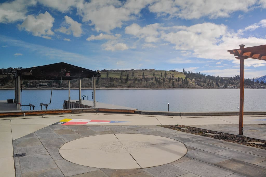 Play a game of shuffleboard or dock your boat!