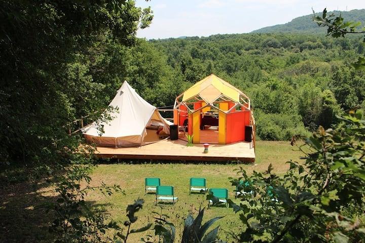 Ecolieu du Merle Enchanteur - Tentes, Zomes -