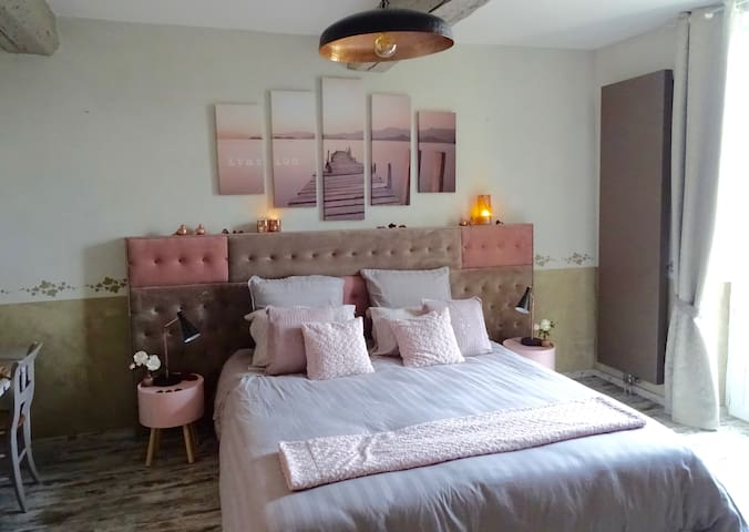 ABACARD HOME la chambre CADEROUSSE - Roquemaure - Guesthouse