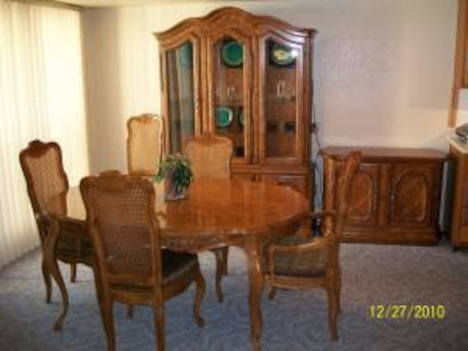 Dining room with custom made Drexel Dining Set