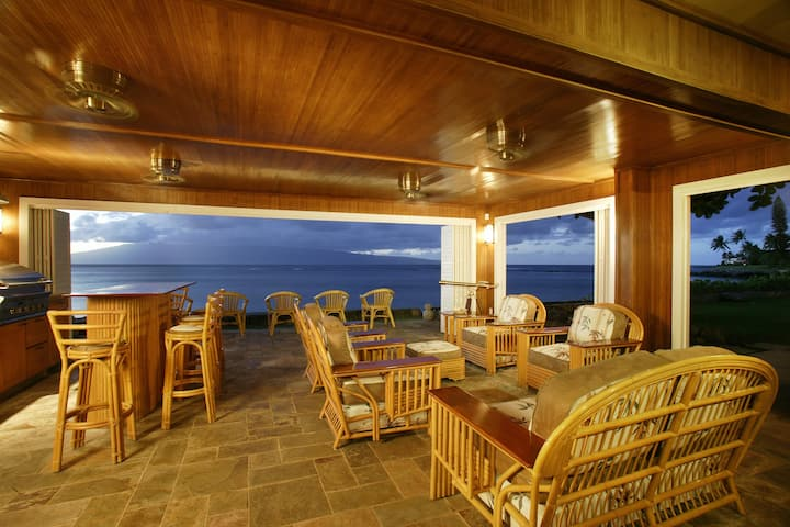 Maui Oceanfront Privacy with views from all rooms.