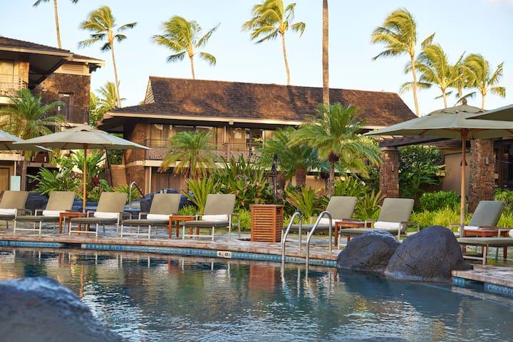 Ocean View Room + Balcony | Pool & Lava Rock Hot Tub + Steps to Beach!