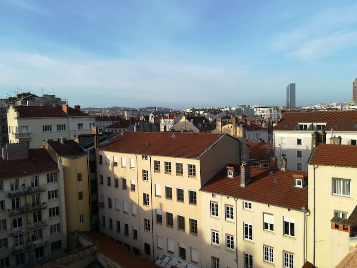 Charmant 2 pièces belle vue sur les toits !