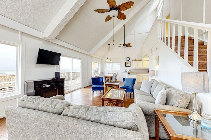 Oceanfront, Dog-Friendly Home w/ Shared Pool, Free High-Speed WiFi, & Central AC