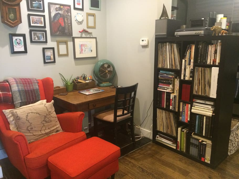 Shared living room / workspace