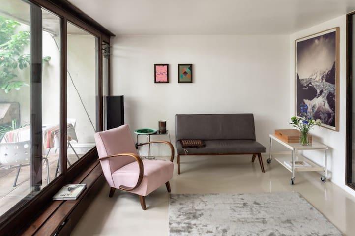 Beautiful 2-storey Leafy Highgate Brutalist Home