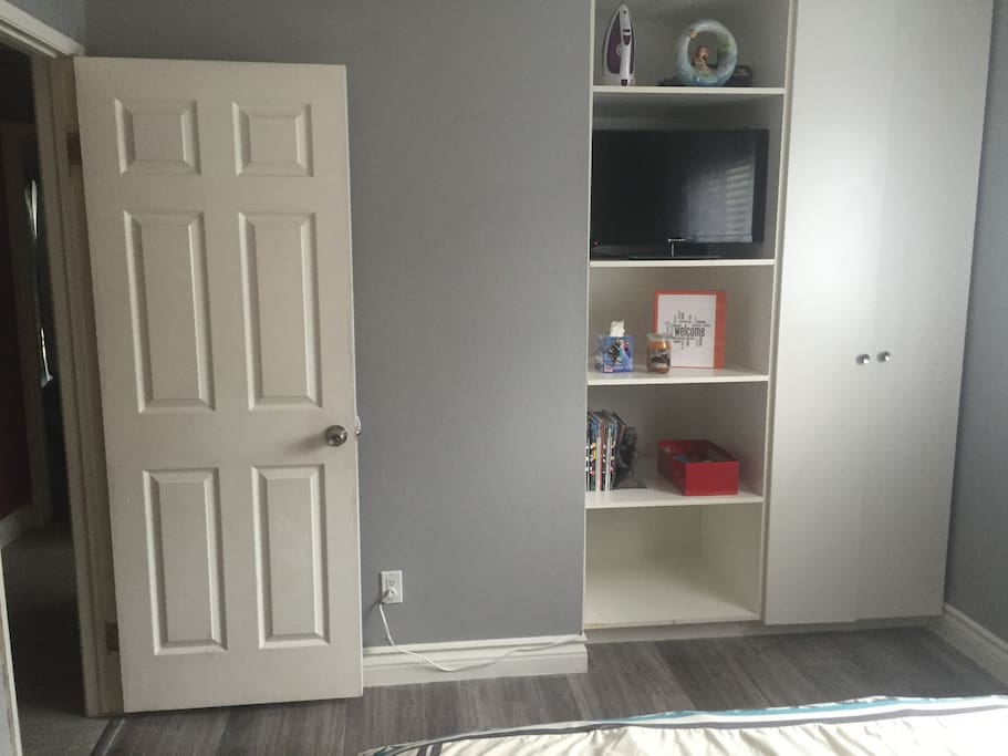 Closet Space with Small Tv In Room