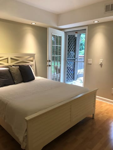 Bedroom with private entrance