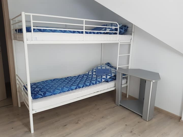 Clean and spacious room. Safe, silent area.