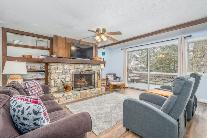 Inviting Retreat Near the Slopes W/ Wood-Burning Fireplace, Large Deck & WiFi!