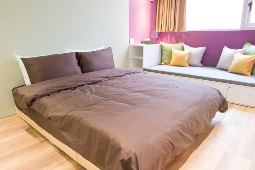 3F room_purple 舒適雙人床