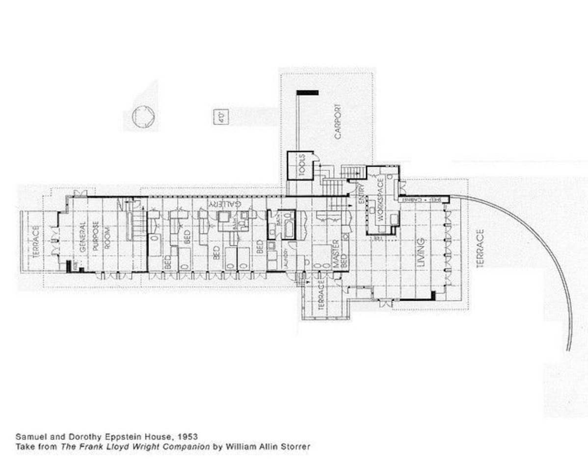 Frank Lloyd Wright The Eppstein House - Bungalows for Rent in ...