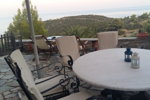 Breathtaking view house in Sarti!#