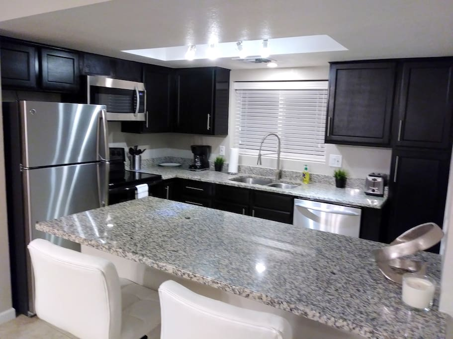 Remodeled Full Kitchen with Coffeemaker and Toaster