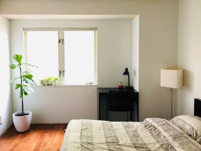 Clean cozy bedroom in Urbana with private bathroom