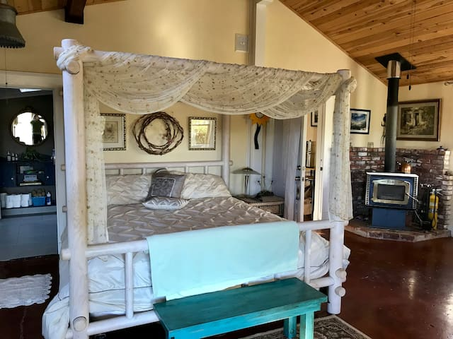 Masters quarters with King size TemperPedic bed