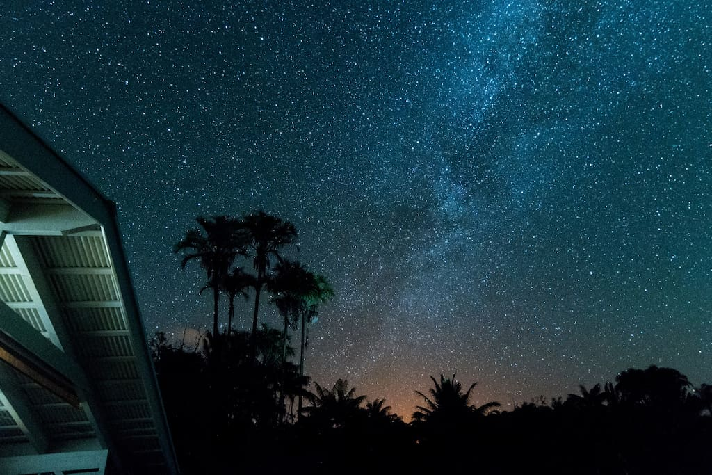 View of the Milky Way taken from the lanai by our guest.