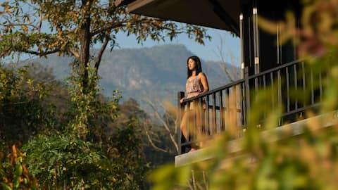 Villa em Forest Sanctuary, sala de ioga, Cozinha COMPLETA
