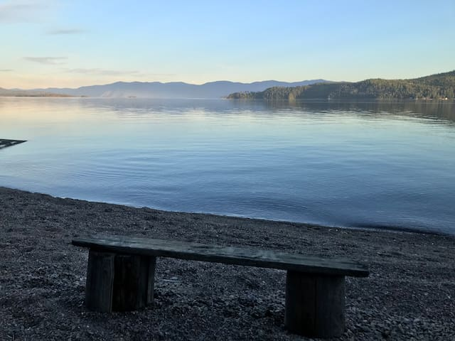 Private Beach Campsite on Lake Pend Oreille