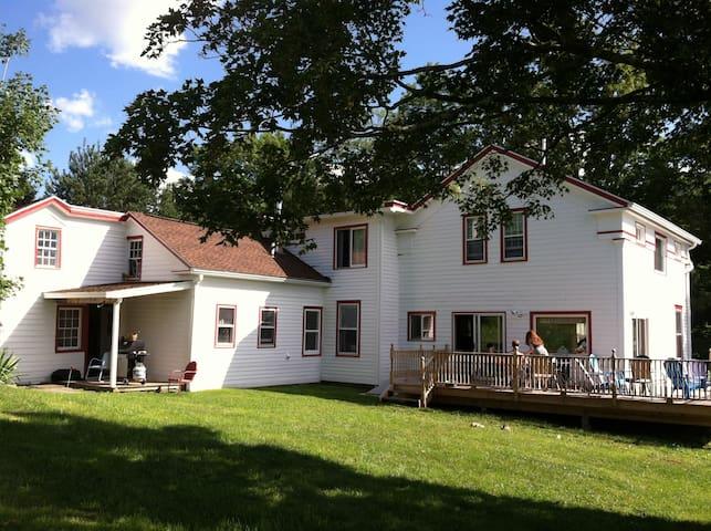 Darling 1853 farmhouse on 50 glorious acres
